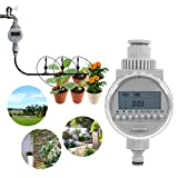 ERTIANANG 1Pc LCD Digital Watering Timer Solar Power Garden Irrigation Sprinkler Control Water Timer Controller System