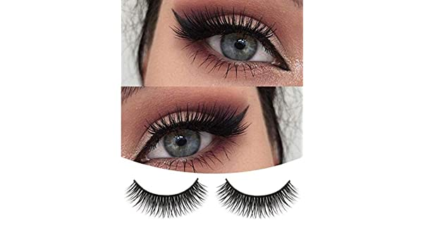 Amazon.com : Eyelashes, LtrottedJ A Pair Crisscross Multilayer Natural Beauty Long Soft Dense False Eyelashes : Beauty