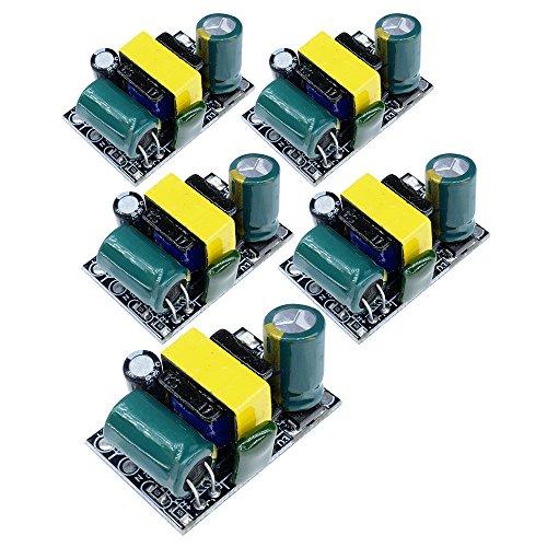 Diymore 5Pcs AC-DC 5V 700mA 3.5W Power Supply Buck Converter Step Down Module for Arduino