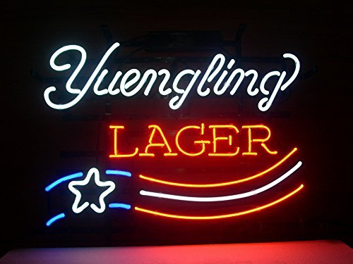 New Yuengling Lager America's Oldest Brewery Real Glass Neon Light Sign Home Beer Bar Pub Recreation Room Game Room Windows Garage Wall Sign H130