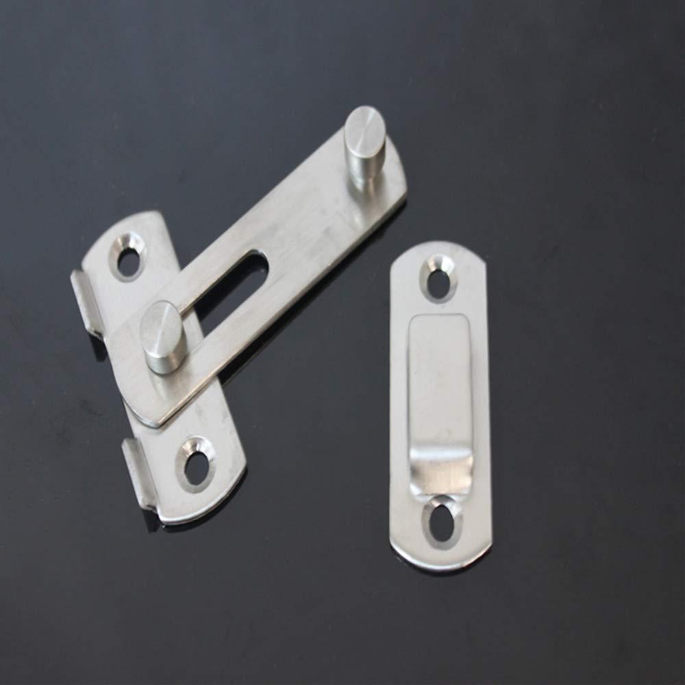 Cierre de cerrojo de cerradura de puerta de acero inoxidable Cierres de cerradura Cierre de puerta de seguridad-L Baugger Cierre de cerrojo de puerta Baugger