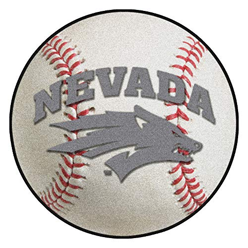 FANMATS NCAA University of Nevada Wolf Pack Nylon Face Baseball Rug ()