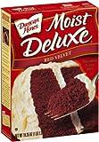 Duncan Hines Cake Mix Moist Deluxe, Red Velvet, 18.25-Ounce Boxes (Pack of 6)