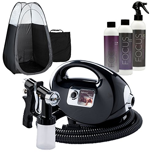 Black Fascination FX Spray Tanning Kit with Tanning Solution Pack & Black Tent by Fascination