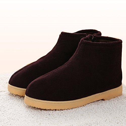 LaxBaLhiver au chaud, lhiver Chaussons Chaussons moelleux Accueil chaleureux en hiver, chaussures antiglisse Chambre Chaussons 41 Café