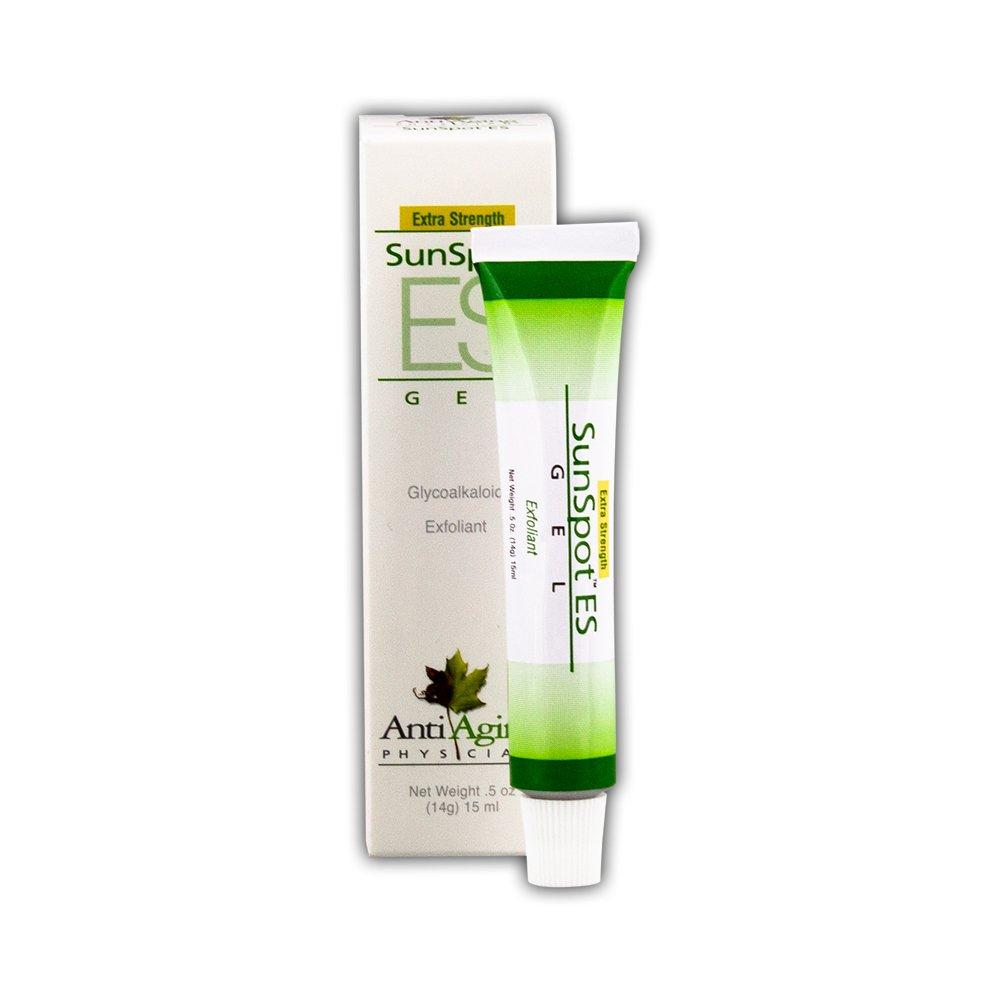 Lane Labs - SunSpot ES, Natural Exfoliating Gel, Skin Rejuvinating Ingredients, Including Aloe Vera and Tea Tree Oil (0.5 Ounce) 002110027151