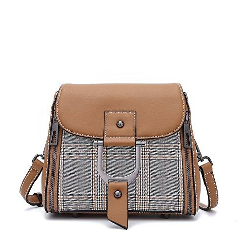 Xuanbao A Messenger Borsa colore Caramello Piccola Tracolla Caramello Bag Donne ExrqBEIRw