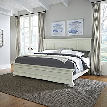 Amazon Com Dover White King Bed By Home Styles Kitchen Dining