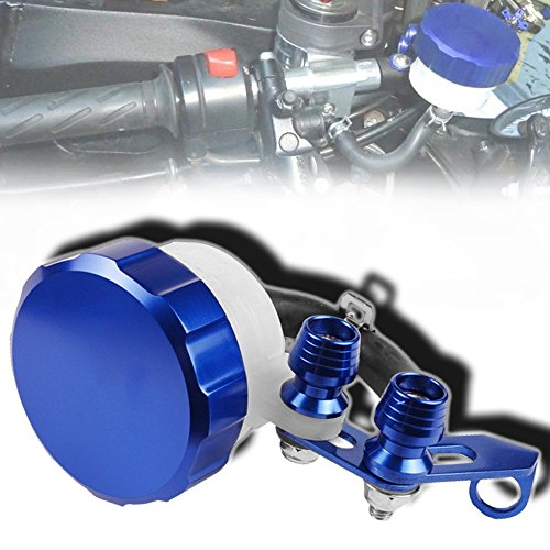 Cnc Metal Tail Rotor (CNC T6061 Aluminum Motorcycle Clutch / Brake Reservoir Fluid Tank Bottle Master Cylinder Blue)