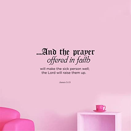 Amazon.com: Room Wall Stickers Quotes The Prayer Offered in ...