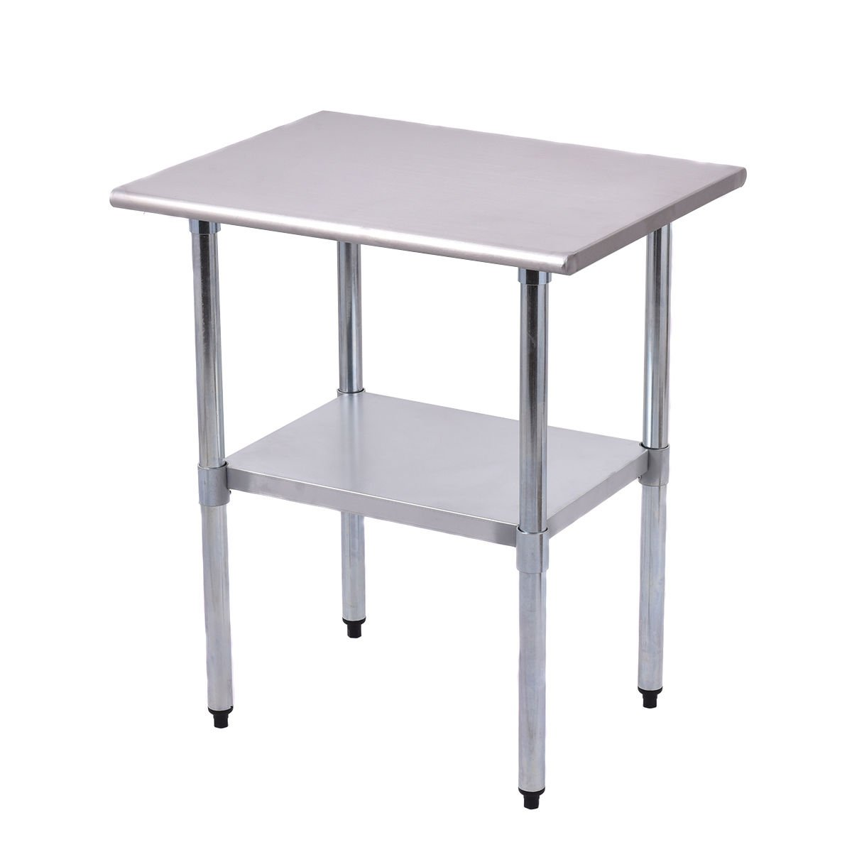 Goplus Stainless Steel Work Table Prep Work Table for Commercial Kitchen Restaurant (24'' x 30'')