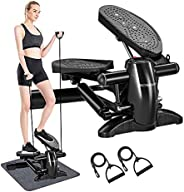 Stepper, DACHUANG Stair Climber Exercise Equipment with Display, Elliptical Stepper Exercise Machine with Resi
