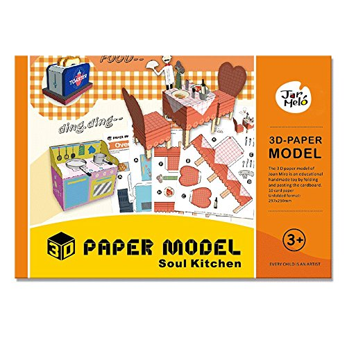 Jar Melo 3D Paper Models; Folded Paper Kit; Paper Craft; Assembly Paper; Soul Kitchen; Handmade;