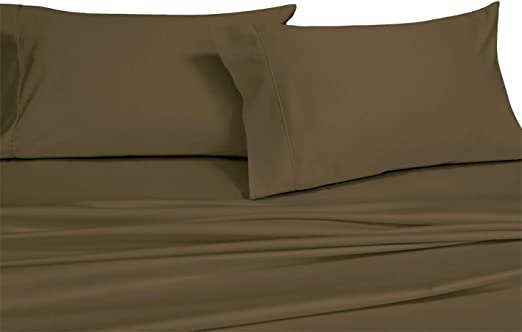 Extra Deep Pocket Sheet Sets 22 Inch 100/% Cotton 600 Thread Count Solid Sheets