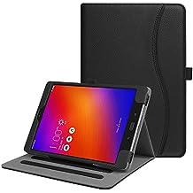 Fintie Asus ZenPad 3S 10 Z500M / ZenPad Z10 ZT500KL Case - Multi-Angle Viewing Folio Stand Cover with Pocket for ZenPad 3S 10 / Verizon Z10 9.7-Inch Tablet (Black)