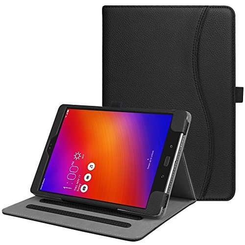 Fintie Asus ZenPad 3S 10 Z500M / ZenPad Z10 ZT500KL Case - Multi-Angle Viewing Folio Stand Cover with Pocket for ZenPad 3S 10 / Verizon Z10 9.7-Inch Tablet (Black)