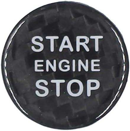 ontto Car Start Stop Engine Button Sticker Carbon Fiber Keyless Ignition Switch Push Buttons Cover Trim Decals for Alfa Romeo Giulia Stelvio Black