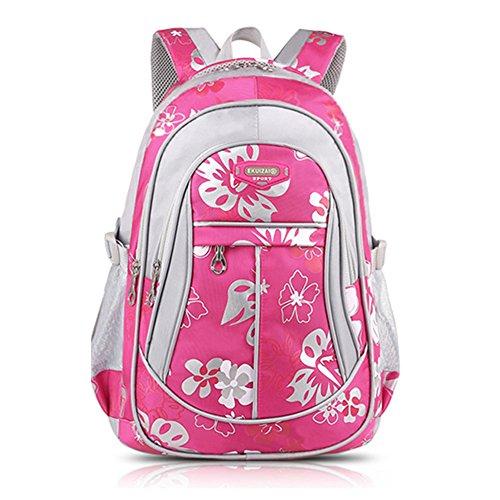 Minetom Pvc Backpack Mochilas Escolares Mochila Escolar Casual Bolsa Viaje Moda Amor Corazon Mujer Rosa Roja
