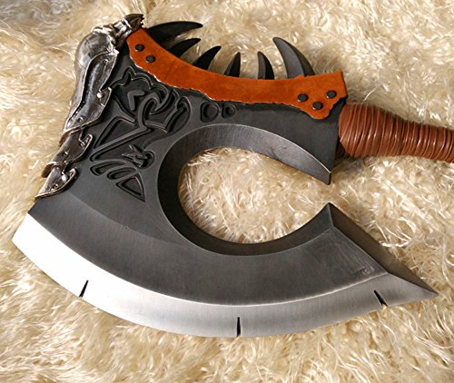 Gmasking Metal Clan Chieftain Cosplay Axe Weapon 1:1 Replica Props