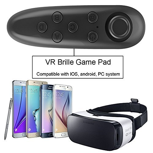 IVSO-VR-Remote-Control-Bluetooth-Gamepad-Remote-Controller-for-Samsung-Gear-VR-Phones-Tablets-PC-Easy-control-for-Selfie-Video-Music-Mouse-Ebook-Game-and-VR-10M-Serviceable-Rang