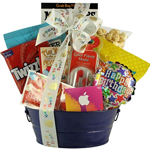 GreatArrivals Kid's Birthday Gift Basket for Boys, Birthday Tunes, 3 Pound