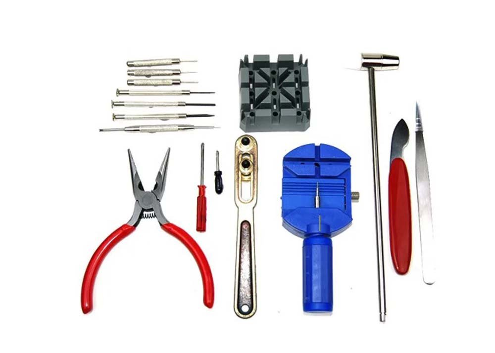 Watch Repair Tool Kit 16PCS Watch Band Holder Back Case Wrench Opener Link Pin Remover Repair Tool Kit