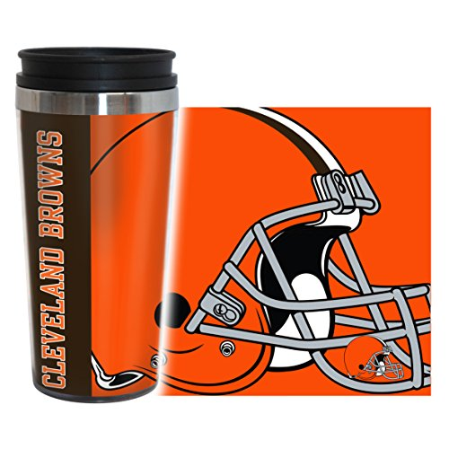 (NFL Cleveland Browns Hype Travel Tumbler, 16-ounce, Orange)