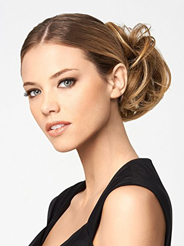 Modern Chignon Color R1416T BUTTERED TOAST - Hairdo Extensions Claw Clip Loose Hair Bun Tru2Life Heat Friendly Synthetic Soft Waves (Buttered Toast)