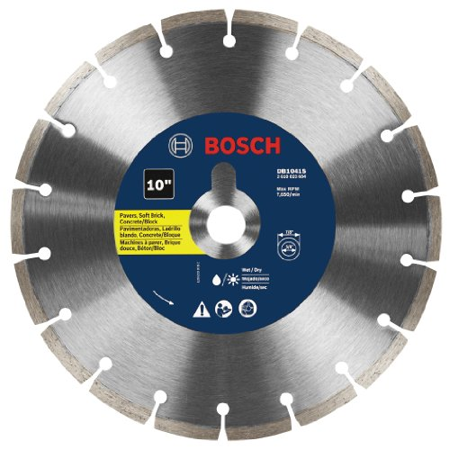 Wet Masonry Saw (Bosch DB1041S 10-Inch Segmented Rim Diamond Blade)