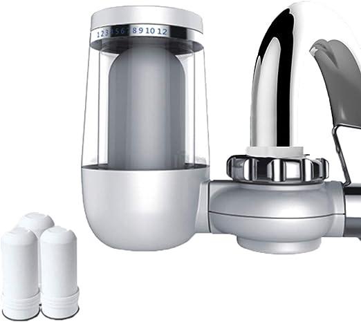 El filtro de agua de la llave con carbón activado, el sistema de filtración de la llave de agua elimina el plomo y el cloro (3 filtros incluidos): Amazon.es: Hogar