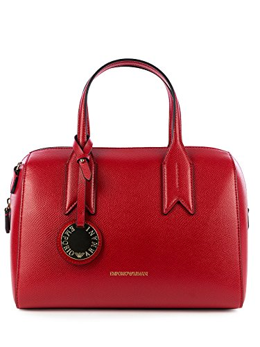 Negro Emporio Handbag Armani Red Black Handle Twin Mujer zqzHXxP4wv