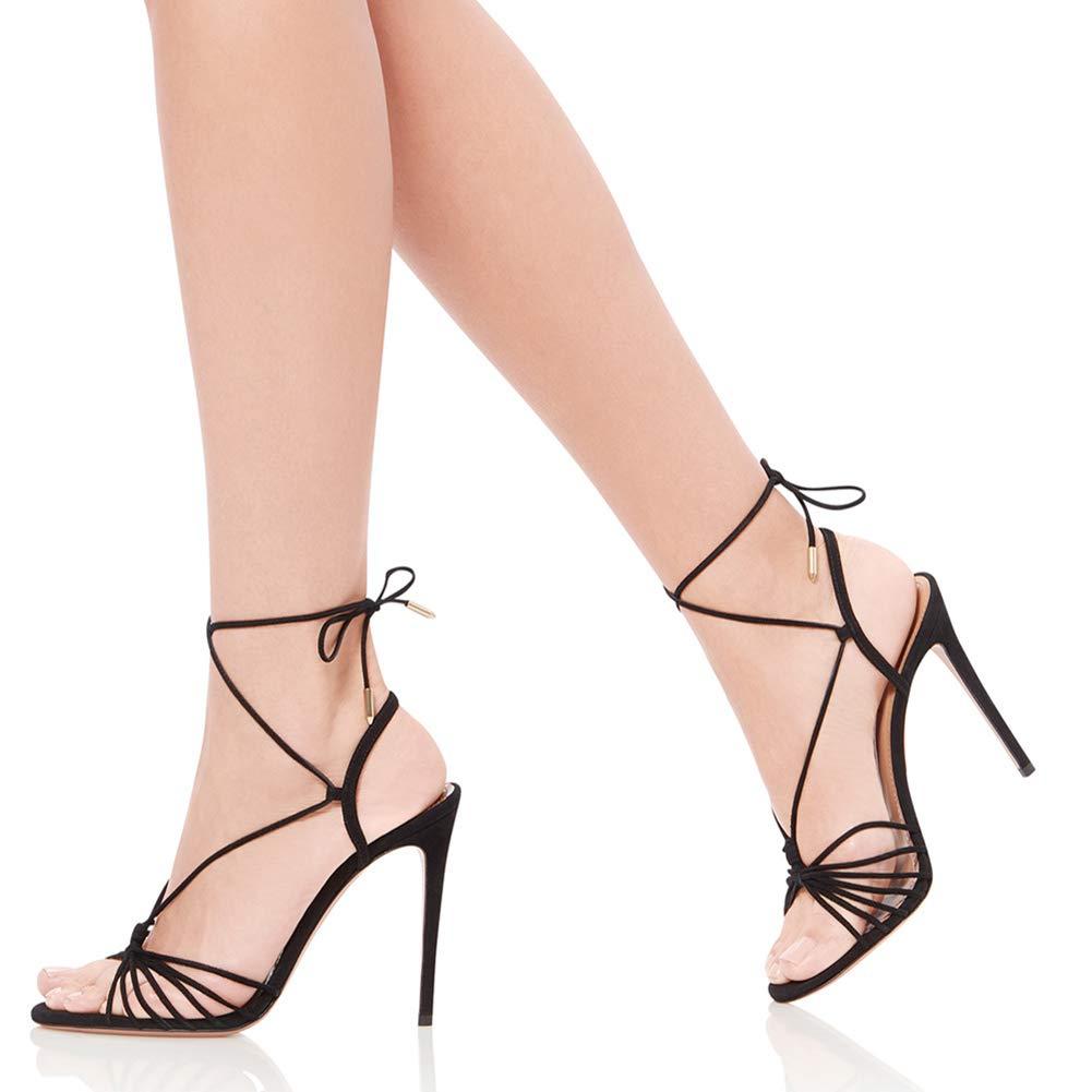 Stiletto High Heels Knöchelriemen Offene Spitze,MWOOOK-448 Damen Klassische Klub Klub Klub Modisch Kleid Schuhe schuhe 34-45 EU 24b31e