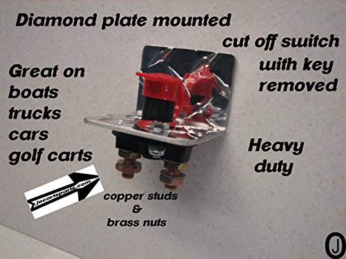 (Diamond Plate Battery Isolator/cut Off/ Disconnect Kill Switch Boats/golf Carts)