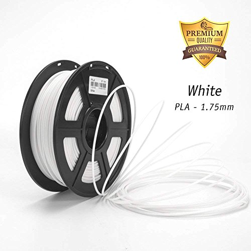 3D Filament, PLA White 1.75mm Dimensional Accuracy +/- 0.02 mm 2.2 lbs (1KG) Spool, White by DAZZLE LIGHT