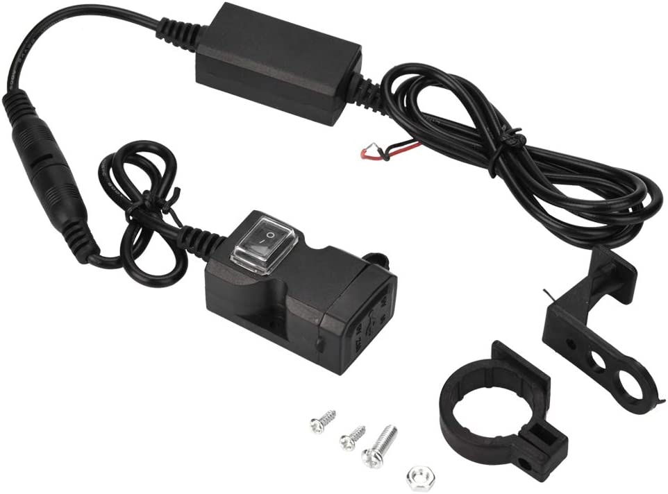 9-24V Motorcycle Electric Vehicle Dual USB Charger Mobile Phone Charge 1.5A//2A Suuonee USB Charger