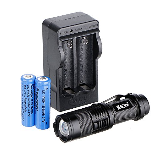 Rechargeable Flashlight MECO Zoomable Batteries