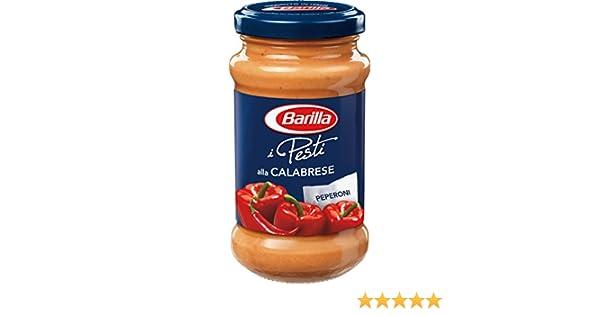 Amazon.com : Barilla Pesto alla Calabrese Peperoni 190 g : Grocery & Gourmet Food