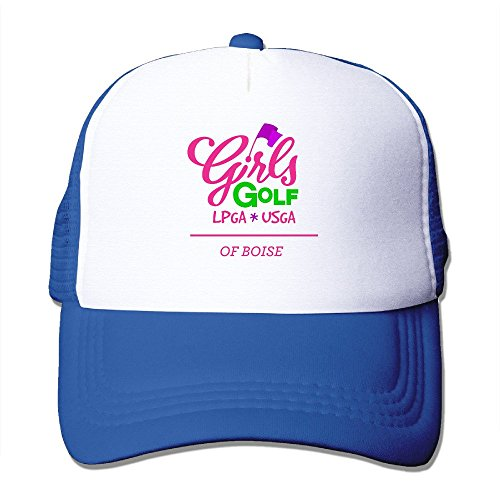 XSSYZ LPGA Logo Trucker Hat Mesh Cap RoyalBlue
