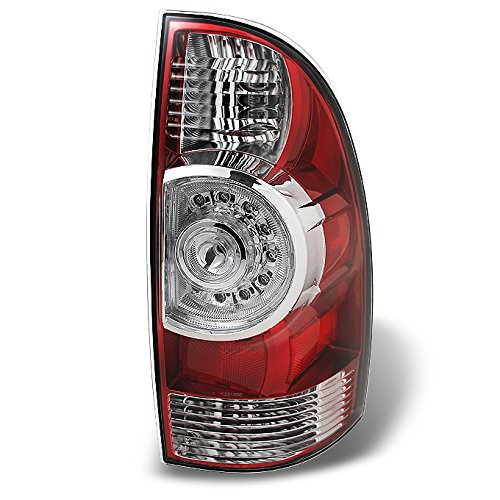 oma Pickup Truck Red Clear Rear Tail Lights Brake Lamps Passenger Right Side Replacement ()
