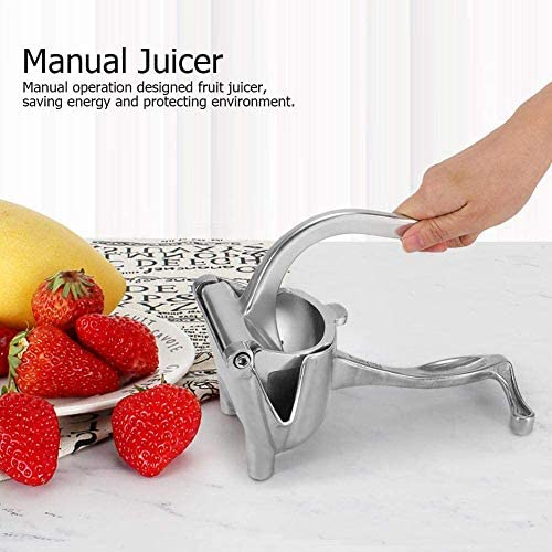 CYQAQ Exprimidor de Frutas Exprimidor de Naranja y limón Extractor Herramienta de exprimido Manual portátil de Acero Inoxidable Fácil de Usar para el hogar