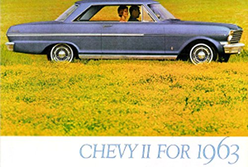 1963 CHEVY II & NOVA DEALERSHIP COLOR SALES BROCHURE - ADVERTISMENT FoR Hardtop, Station Wagon, Sedan, Coupe. - CHEVEROLET 63