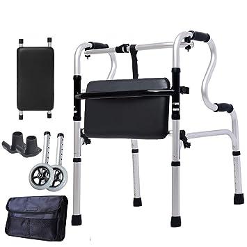 Amazon.com - Adult Deluxe Medical Walker Lightweight Folding ...