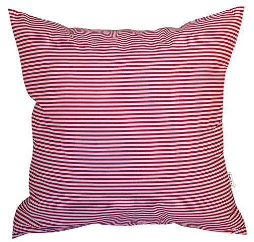 (TangDepot Decorative Handmade Stripe Cotton Throw Pillow Cover, Pillow Sham, Euro sham, European Indoor/Outdoor Cushion Cover - (26