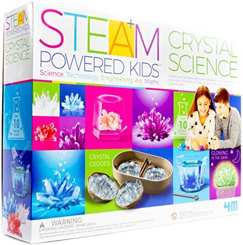 51mnCrLz4oL - 4M Deluxe Crystal Growing Combo Steam Science Kit - DIY Geology, Chemistry, Art, STEM Toys Gift for Kids & Teens, Boys & Girls