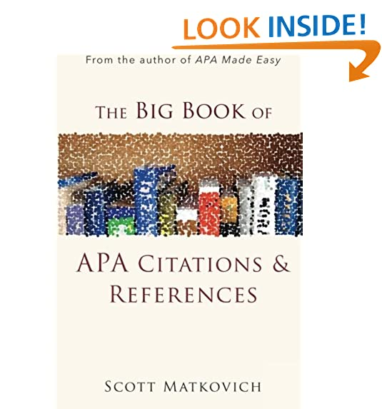 Citation book amazon the big book of apa citations and references ccuart Images