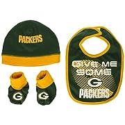 Gerber Childrenswear NFL Green Bay Packers Boys Cap Bootie & Bib Set, 0-6 Months, Green