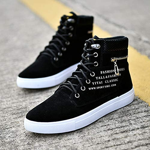 Fashion 3 Color Mens Casual Oxfords High Top Suede Leather Canvas Shoes Sneakers