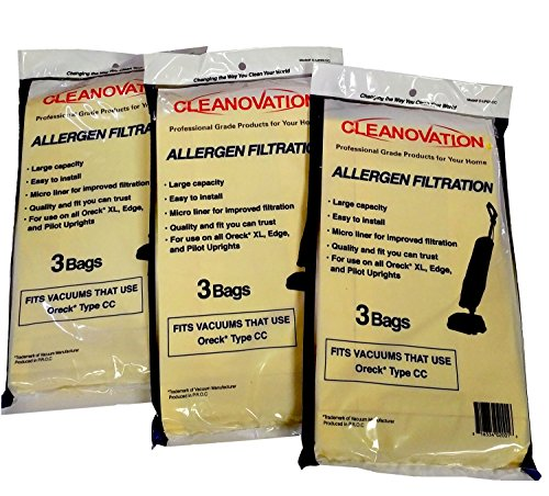 Oreck Type CC Vacuum Cleaner Bag, Micro Lined Bags, Quantity 9 ()