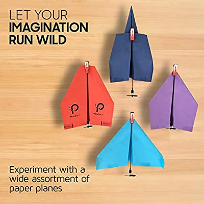 POWERUP 2.0 Paper Airplane Conversion Kit | Electric Motor for DIY Paper Planes | Fly Longer and Farther | Perfect for Kids & Adults | Ready to Use Aeroplane Engine Kits: Toys & Games