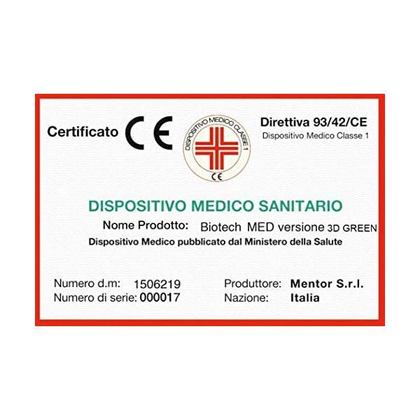 Mentor - Materasso Molle & Memory Med Matrimoniale 160x190 Biotech Med 3D Green DISP. Medico DETRAIBILE 5 cm di Memory… 4 spesavip